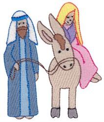 Nativity Mary & Joseph embroidery design