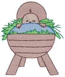 Nativity Manger & Jesus embroidery design