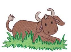 Nativity Bull embroidery design