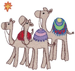 Nativity Camels embroidery design