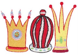 Nativity Crowns embroidery design