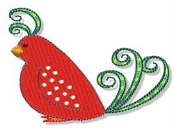 Christmas Redbird embroidery design