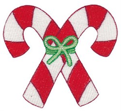 Jolly Christmas Candy Canes embroidery design