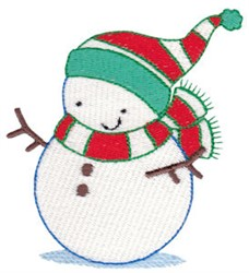 Jolly Christmas Snowman embroidery design