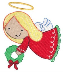 Jolly Christmas Angel embroidery design