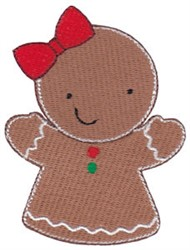 Jolly Christmas Gingerbread Woman embroidery design