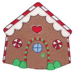 Jolly Christmas Gingerbread House embroidery design