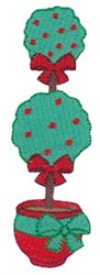 Jolly Christmas Topiary embroidery design