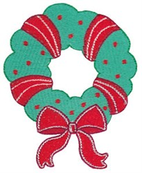 Jolly Christmas Wreath embroidery design