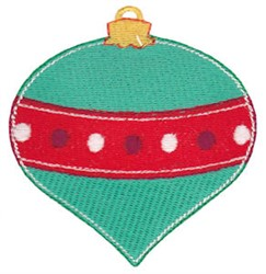 Jolly Christmas Ornament embroidery design