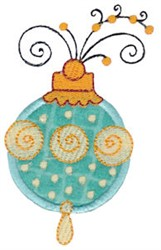 Whimsical Ornament Applique embroidery design
