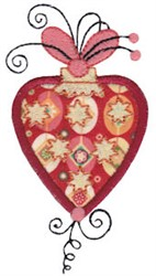 Heart Shaped Applique Ornament embroidery design
