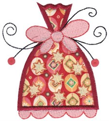 Whimsical Applique Ornament embroidery design