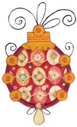 Decorative Whimsical Applique Ornaments embroidery design