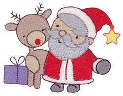 Little Santa & Reindeer embroidery design