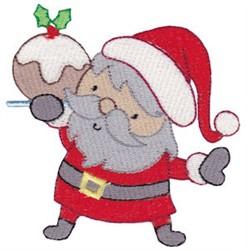 Santa & A Cookie embroidery design