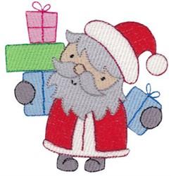 Santa Delivering Presents embroidery design