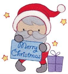 Merry Christmas Santa embroidery design