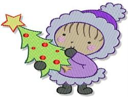 Little Eskimo & Christmas Tree embroidery design