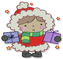 Little Eskimo & Presents embroidery design