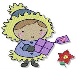 Little Eskimo & Poinsettia embroidery design