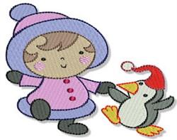Little Eskimo & Penguin embroidery design