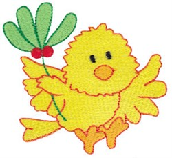 Christmas Chick & Holly embroidery design