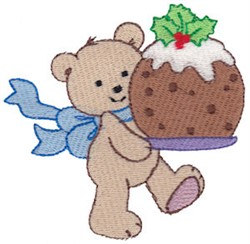 Christmas Teddy & Cookie embroidery design