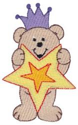 Christmas Bear & Star embroidery design