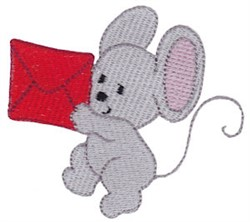 Christmas Mouse & Envelope embroidery design