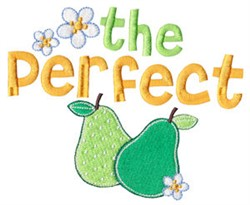 The Perfect Pair embroidery design