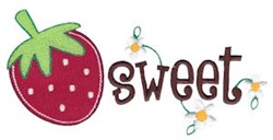 Sweet Strawberries embroidery design