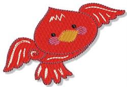 Cartoon Red Bird embroidery design