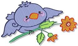 Cartoon Blue Bird embroidery design