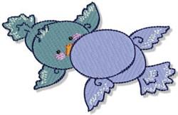 Cartoon Bluebirds embroidery design