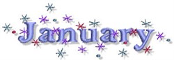 The Month Of January embroidery design