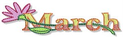 The Month Of March embroidery design