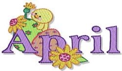 The Month Of April embroidery design
