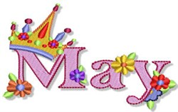 The Month Of May embroidery design