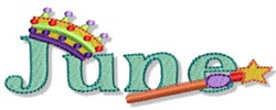 The Month Of June embroidery design