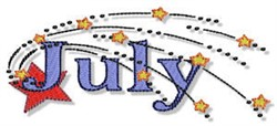 The Month Of July embroidery design