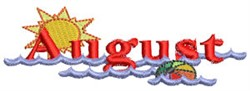 The Month Of August embroidery design