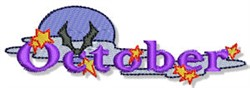 The Month Of October embroidery design