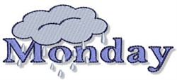 Rainy Monday embroidery design