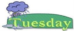 Cloudy Tuesday embroidery design