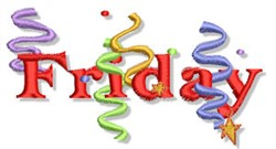 Friday Party! embroidery design