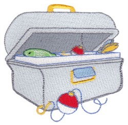 Fishing Tackle Box embroidery design