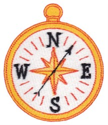 Camping Compass embroidery design