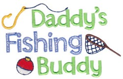 Daddys Fishing Buddy embroidery design
