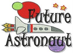 Future Astronaut embroidery design
